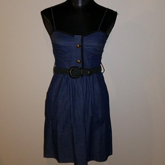 Voom by Joy Han Dresses & Skirts - VOOM by Joy Han DENIM CORSET DRESS
